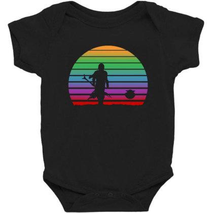 Baby Yoda Sunset Baby Bodysuit