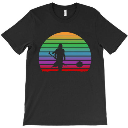 Baby Yoda Sunset T-shirt Designed By Angel Tees