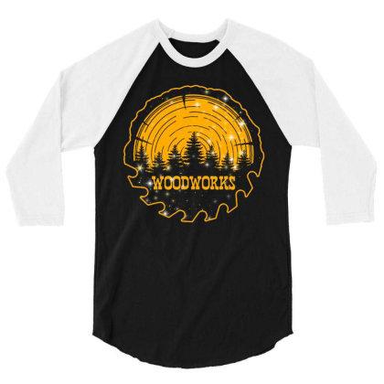 Woodworks 3/4 Sleeve Shirt Designed By Badaudesign