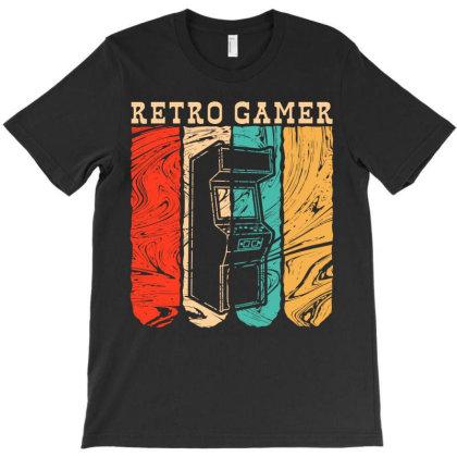 Retro Gamer T-shirt Designed By Badaudesign