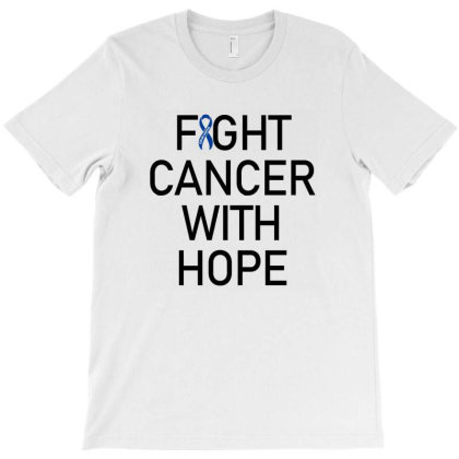 Fight Cancer With Hope T-shirt Designed By Meza Design