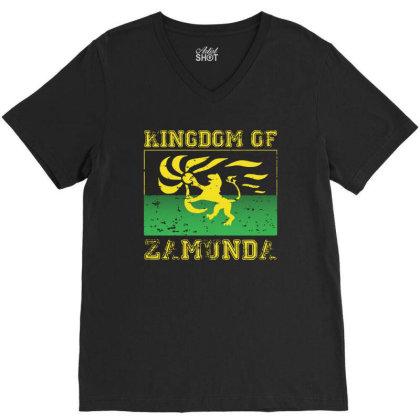 Kingdom Of Zamunda V-neck Tee Designed By Angel Tees
