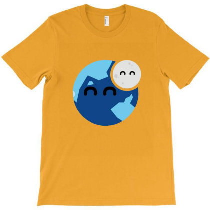 Earth And Moon T-shirt Designed By Asatya