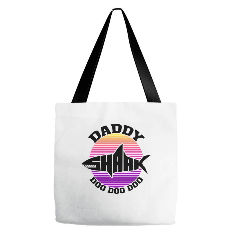 Daddy Shark Doo Doo Doo Tote Bags | Artistshot