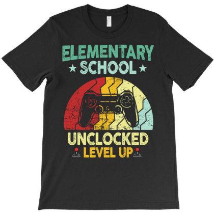Elementary School Unclocked Level Up T-shirt Designed By Badaudesign