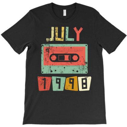 July 1998 Vintage Birthday T-shirt Designed By Badaudesign