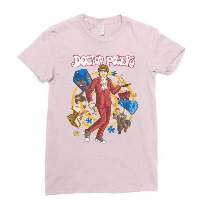 Doctor Powers Ladies Fitted T-shirt Designed By Saqman
