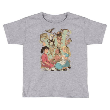 Wonderlands Toddler T-shirt Designed By Saqman