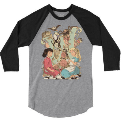 Wonderlands 3/4 Sleeve Shirt Designed By Saqman