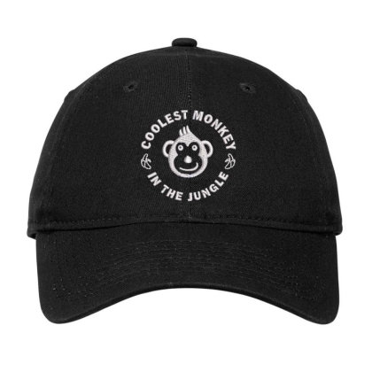 Coolest Monkey Embroidered Hat Adjustable Cap Designed By Madhatter