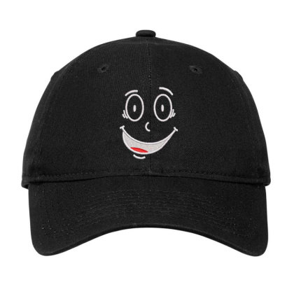 Funny Face Embroidered Hat Adjustable Cap Designed By Madhatter