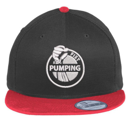 Pumping Embroidered Hat Flat Bill Snapback Cap Designed By Madhatter