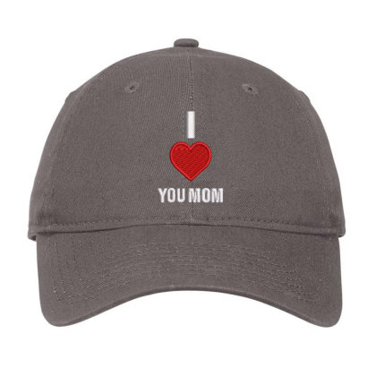 I Love You Mom Embroidered Hat Adjustable Cap Designed By Madhatter