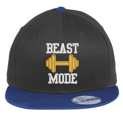 Beast Mood Embroidered Hat Flat Bill Snapback Cap Designed By Madhatter