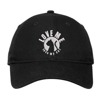 Love Me Love My Cat Embroidered Hat Adjustable Cap Designed By Madhatter