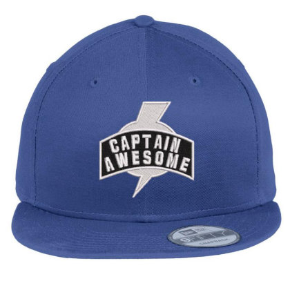 Captian Awesome Embroidered Hat Flat Bill Snapback Cap Designed By Madhatter