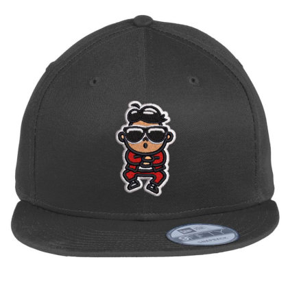 Cartoon Embroidered Hat Flat Bill Snapback Cap Designed By Madhatter