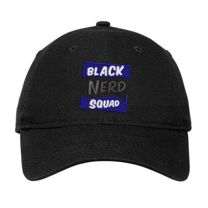 Black Nerd Squad Embroidered Hat Adjustable Cap Designed By Madhatter