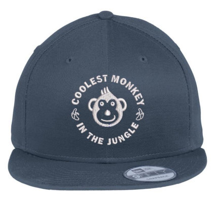 Coolest Monkey Embroidered Hat Flat Bill Snapback Cap Designed By Madhatter