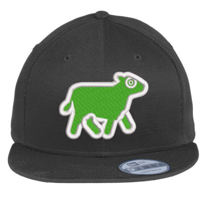 Cow Embroidered Hat Flat Bill Snapback Cap Designed By Madhatter
