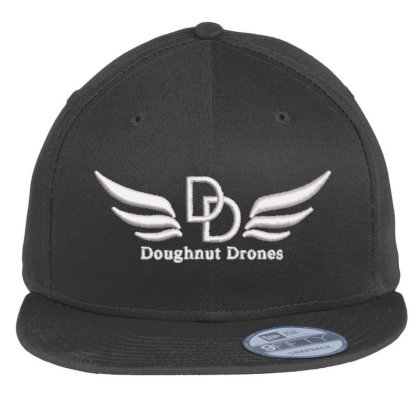 Doughnut Drones Embroidered Hat Flat Bill Snapback Cap Designed By Madhatter