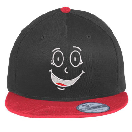 Funny Face Embroidered Hat Flat Bill Snapback Cap Designed By Madhatter