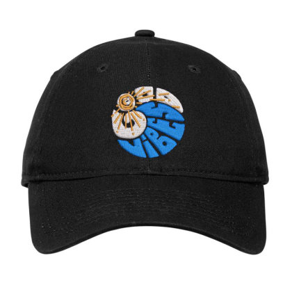 Good Vibes Embroidered Hat Adjustable Cap Designed By Madhatter