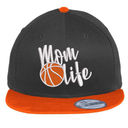 Mom Life Embroidered Hat Flat Bill Snapback Cap Designed By Madhatter