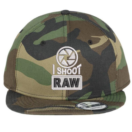 I Shoot Raw Embroidered Ha Flat Bill Snapback Cap Designed By Madhatter