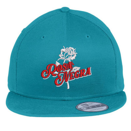 Rosa Negra Embroidered Hat Flat Bill Snapback Cap Designed By Madhatter
