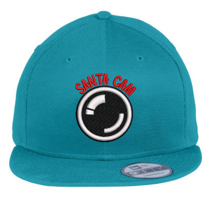 Santa Cam Embroidered Hat Flat Bill Snapback Cap Designed By Madhatter