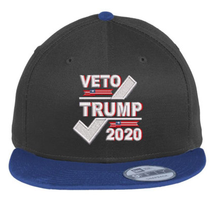 Veto Trump 2020 Embroidered Hat Flat Bill Snapback Cap Designed By Madhatter