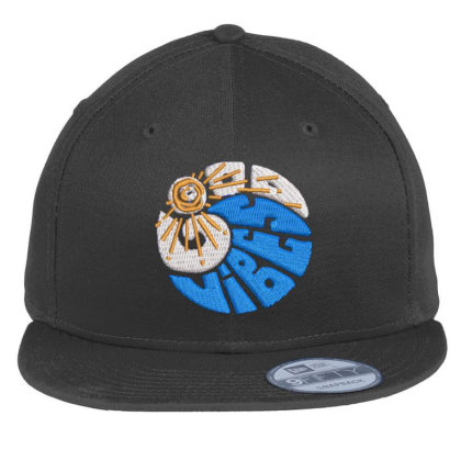 Good Vibes Embroidered Hat Flat Bill Snapback Cap Designed By Madhatter
