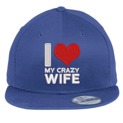 My Crazy Wife Embroidered Hat Flat Bill Snapback Cap Designed By Madhatter