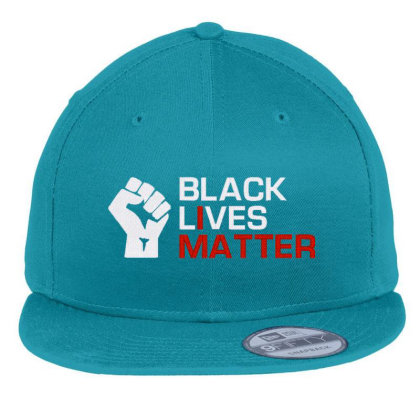 Black Lives Matter Embroidery Flat Bill Snapback Cap Designed By Madhatter