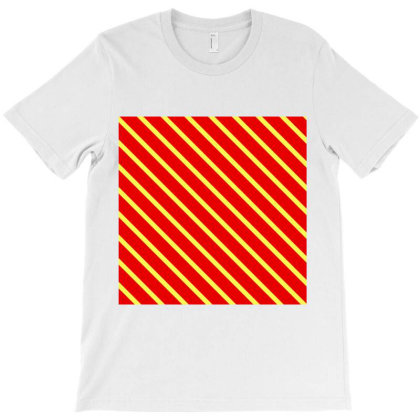 Red And Yellow Gradient Lines Art T-shirt Designed By American Choice