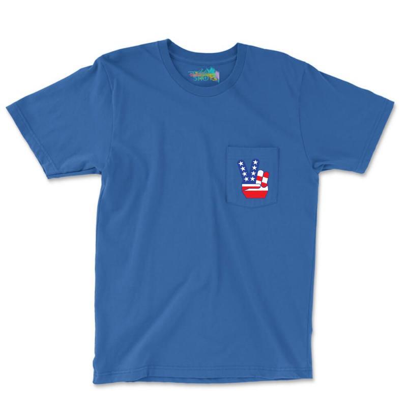 Peace Sign Hand Pocket T-shirt | Artistshot