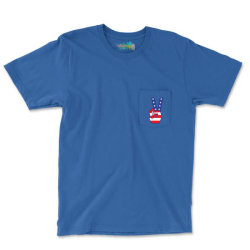 Peace Sign Hand Pocket T-shirt Designed By Tshiart