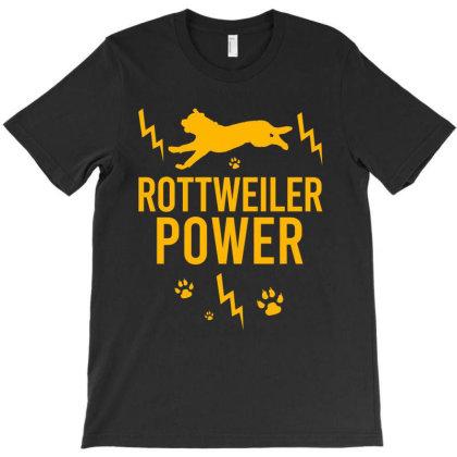 Rottweiler Power T-shirt Designed By Cypryanus