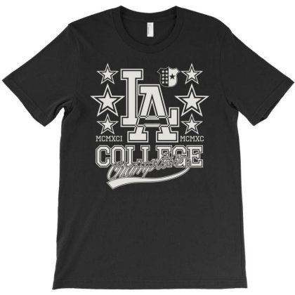 La Collage Champion T-shirt Designed By Nur456