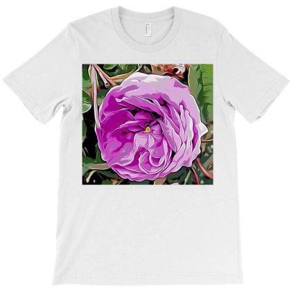 Pink Rose T-shirt Designed By Ianski