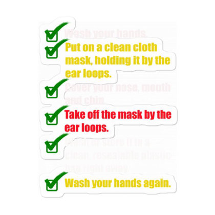 How To Properly Wear A Mask Sticker Designed By Amber Petty