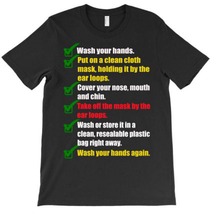 How To Properly Wear A Mask T-shirt Designed By Amber Petty