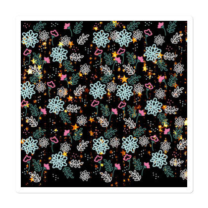 Seamless Pattern With Flower Art Sticker Designed By American Choice