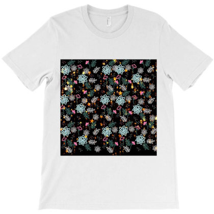 Seamless Pattern With Flower Art T-shirt Designed By American Choice
