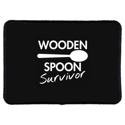 Wooden Spoon Survivor Rectangle Patch Designed By Nur456