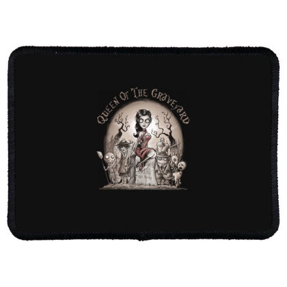 Queen Of The Graveyard Rectangle Patch Designed By Saqman