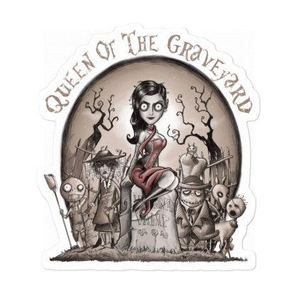 Queen Of The Graveyard Sticker Designed By Saqman