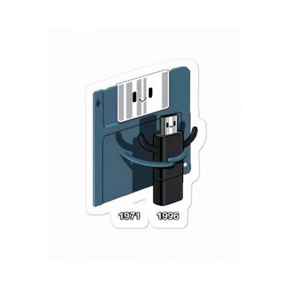 Diskette Hug Usb Sticker Designed By Wd650