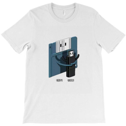Diskette Hug Usb T-shirt Designed By Wd650